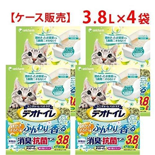 デオトイレ ナチュラルグリーンの香り 3.8L×4袋