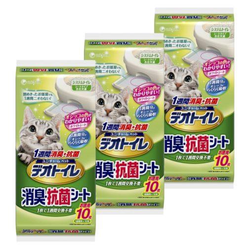 デオトイレ 1週間消臭・抗菌シート 10枚入×3個